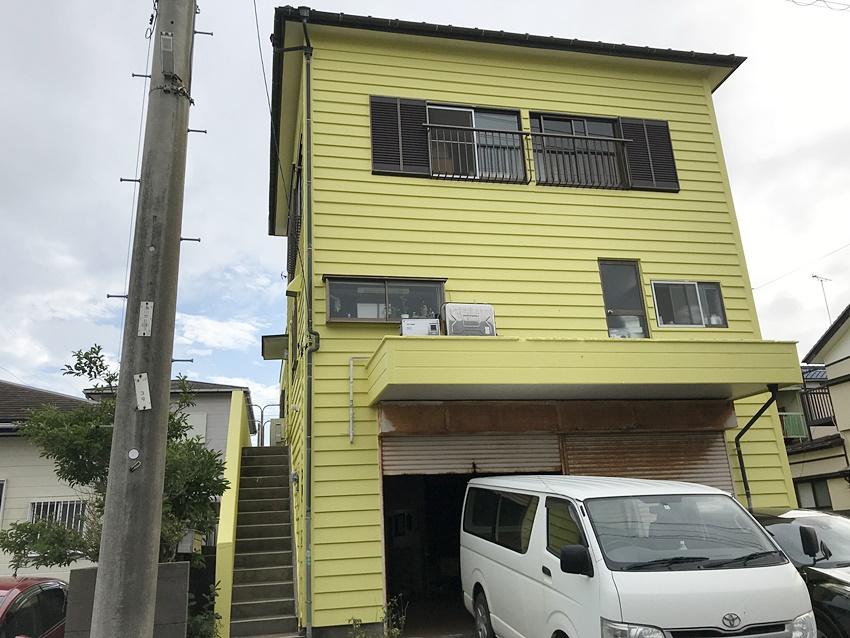 黄色い家の塗装