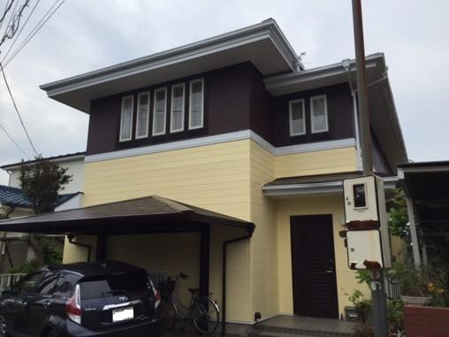 外壁と屋根の塗装