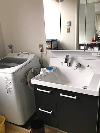 シックな洗面台