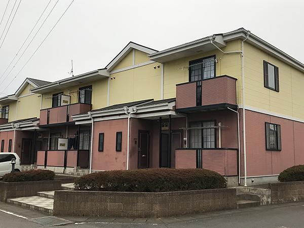 茨城県稲敷郡 外壁屋根塗装|汚れの出ていたアパートの外装を一新