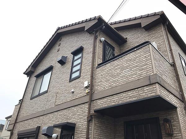 茨城県つくば市外壁塗装工事 階ごとに塗分けてアクセントに