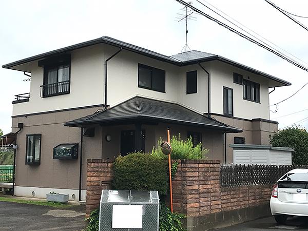 千葉県富里市外壁屋根塗装工事 雨樋の不具合も同時に修復